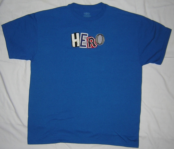 "Custom Made ""HERO"" Wondiosyncra-Tee T-Shirt for Real World Hero Auction at RealWorldHero.com"