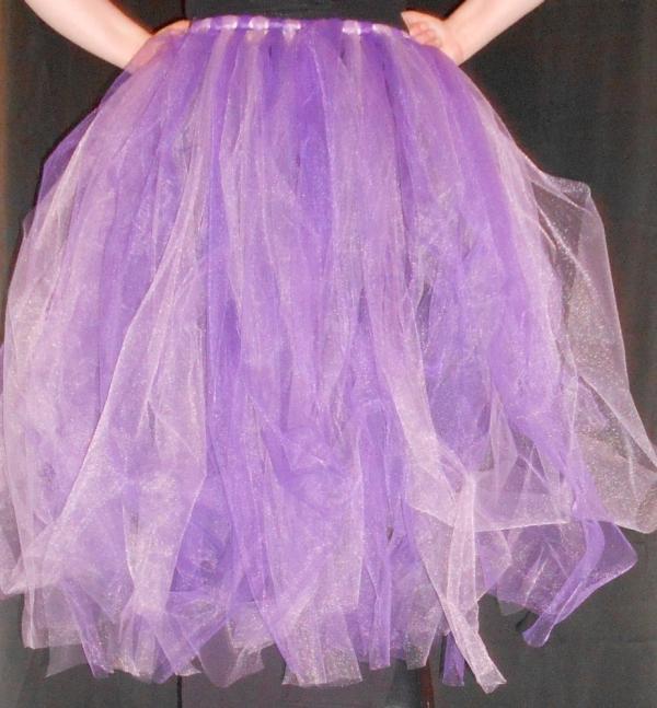 High-Low Tu-Tu Tulle Skirt Back View