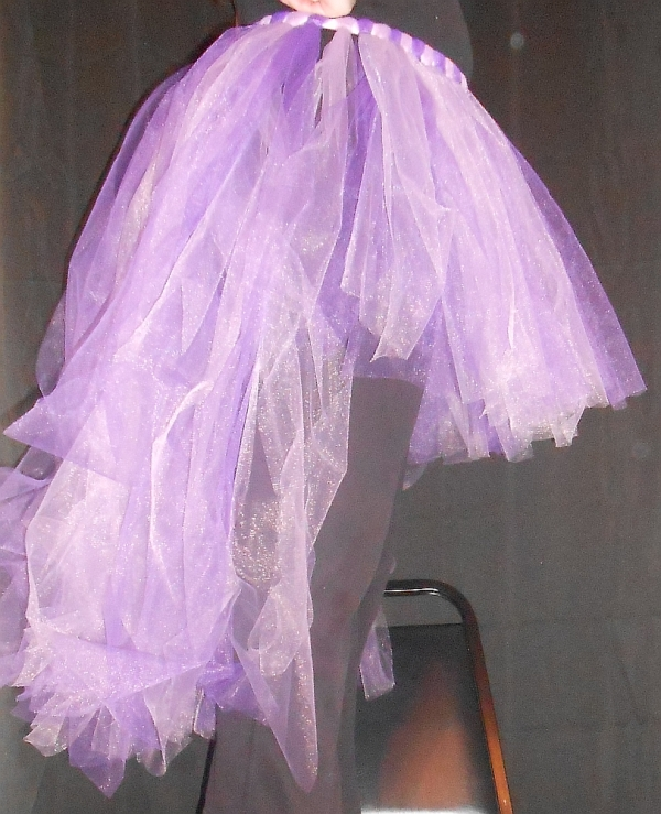 High-Low Tu-Tu Tulle Skirt Side View
