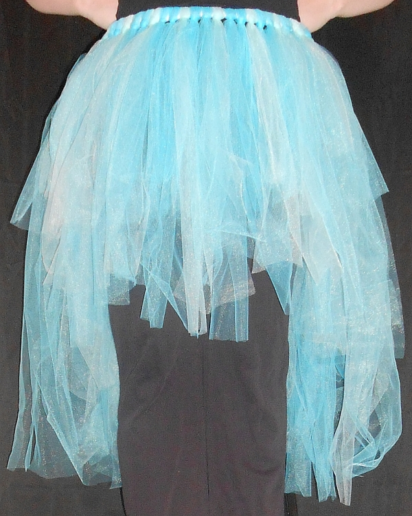 High-Low Tattered Tu-Tu Tulle Skirt Front View