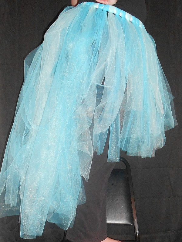 High-Low Tattered Tu-Tu Tulle Skirt Side View