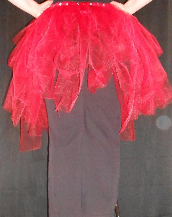 Regular Tattered Tu-Tu Tulle Skirt Back View